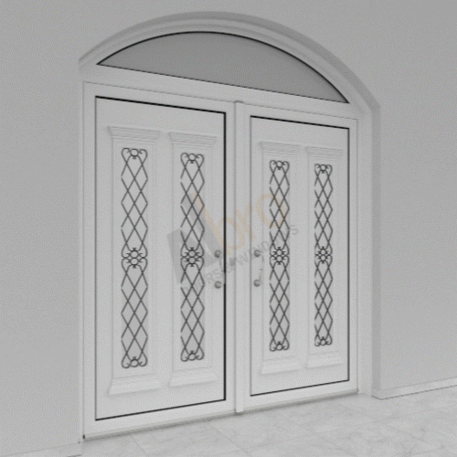 Double sash Entrance & Fixed Arched Part Above