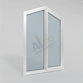 Pentagon Fixed Frame With Single Opening Sash